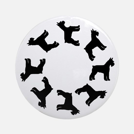 Schnauzer Circle Ornament (Round)