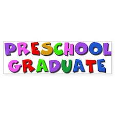 Preschool graduate Bumper Bumper Sticker