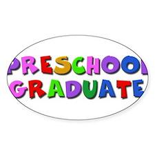 Preschool graduate Oval Decal