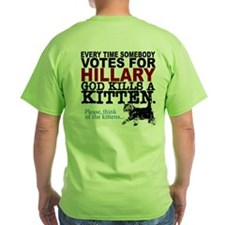 Save the Kittens from Hillary T-Shirt