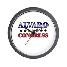 ALVARO for congress Wall Clock