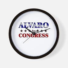 ALVARO for congress Wall Clock