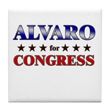 ALVARO for congress Tile Coaster