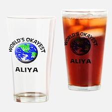 World's Okayest Aliya Drinking Glass