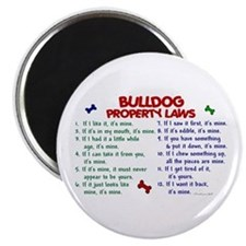 "Bulldog Property Laws 2 2.25"" Magnet (100 pack)"
