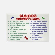 Bulldog Property Laws 2 Rectangle Magnet (100 pack