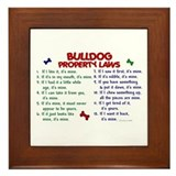 English bulldog Framed Tiles
