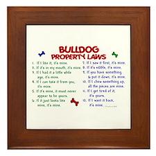 Bulldog Property Laws 2 Framed Tile