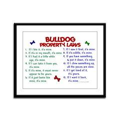 Bulldog Property Laws 2 Framed Panel Print