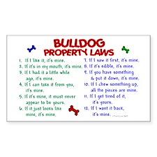 Bulldog Property Laws 2 Rectangle Decal