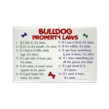 Bulldog Property Laws 2 Rectangle Magnet