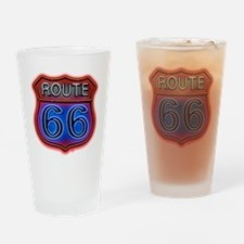 Route 66 neon Drinking Glass