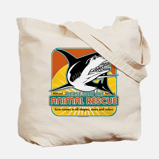 Animal Rescue Shark Tote Bag