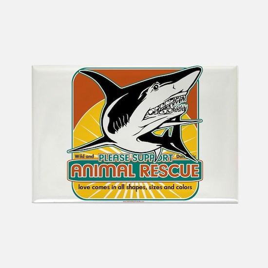 Animal Rescue Shark Rectangle Magnet