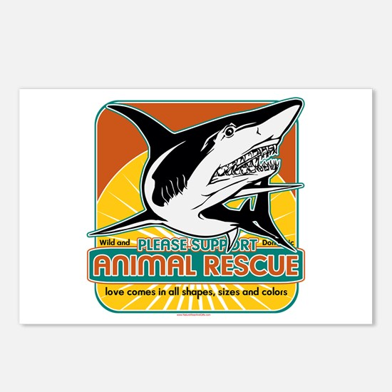Animal Rescue Shark Postcards (Package of 8)