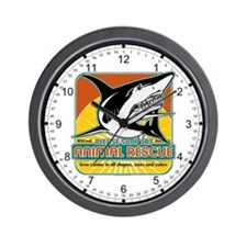 Animal Rescue Shark Wall Clock