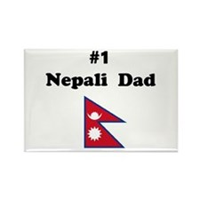 #1 Nepal Dad Rectangle Magnet