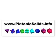 Platonic Solids Bumper Bumper Sticker