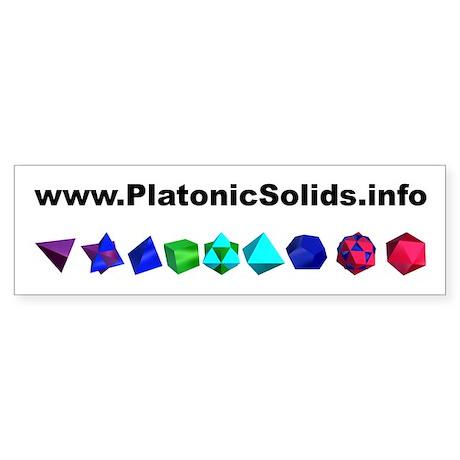 Platonic Solids Bumper Sticker