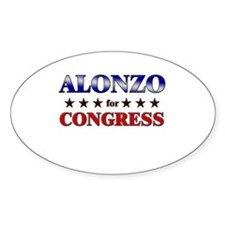 ALONZO for congress Oval Decal