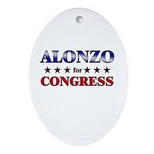 ALONZO for congress Oval Ornament