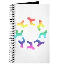 Rainbow Schnauzer Circle Journal