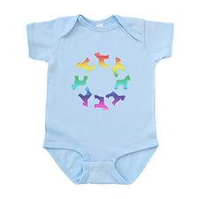 Rainbow Schnauzer Circle Infant Bodysuit