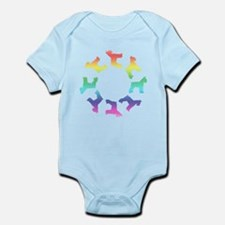 Rainbow Schnauzer Circle Infant Bodysuit