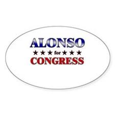 ALONSO for congress Oval Decal