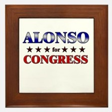 ALONSO for congress Framed Tile