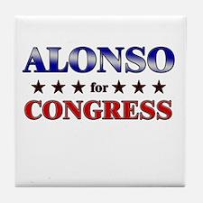 ALONSO for congress Tile Coaster