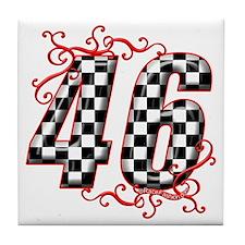 Race Car #46 Tile Coaster