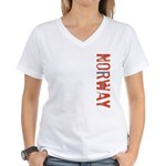Norway Stamp Women's V-Neck T-Shirt