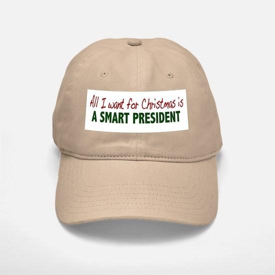 Smart President for Christmas Baseball Baseball Cap