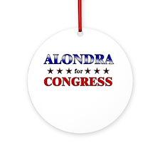 ALONDRA for congress Ornament (Round)