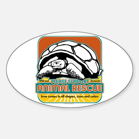 Animal Rescue Turtle Oval Decal