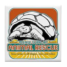 Animal Rescue Turtle Tile Coaster