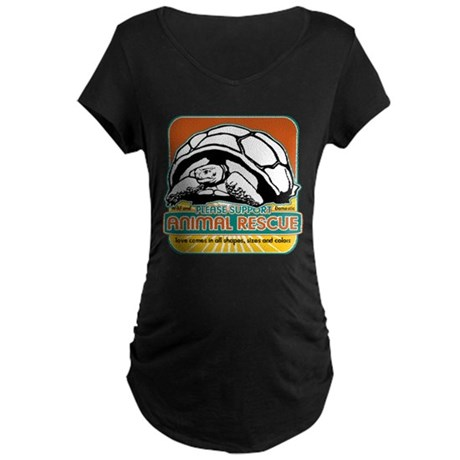 Animal Rescue Turtle Maternity Dark T-Shirt