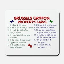 Brussels Griffon Property Laws 2 Mousepad