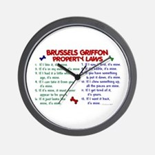 Brussels Griffon Property Laws 2 Wall Clock