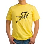 Tribal Elephant Yellow T-Shirt