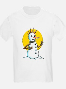 Demented Punk Snowman T-Shirt