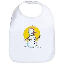 Demented Punk Snowman Bib