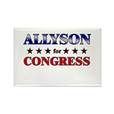 ALLYSON for congress Rectangle Magnet