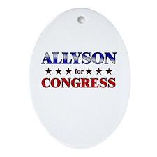 ALLYSON for congress Oval Ornament