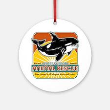 Animal Rescue Whale Ornament (Round)