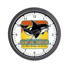 Animal Rescue Whale Wall Clock