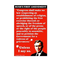 11x17 Bush's First Amendment Poster