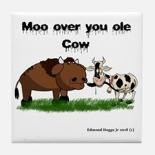 Cute Cow Tile Coaster