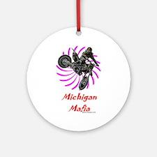 """""""Michigan Mafia"""" Ornament (Round)"""